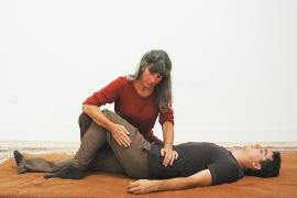 Mary Cuneo practicing Breema bodywork
