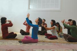 Laura Rawson teaches a Self-Breema class