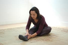 Salena Irion practicing Self-Breema at the Breema Center in Oakland CA